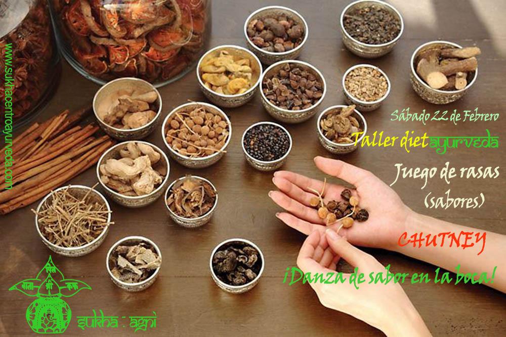 ESPECIAS: ¡medicinas naturales! en el taller de dietAYURVEDA de SUKHAgni